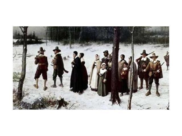 Pilgrims Going To Church Poster Print by  George Henry Boughton  (12 x 18)