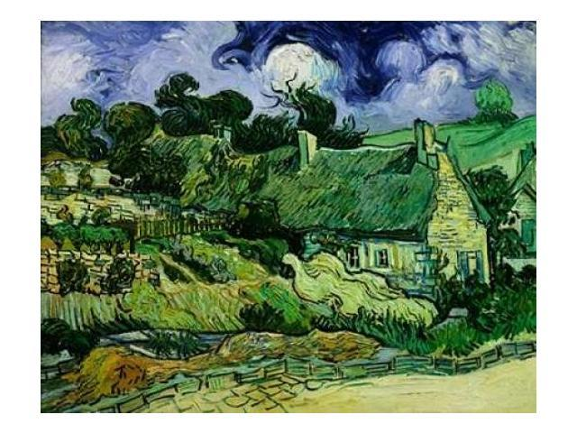House with Straw Ceiling Cordeville Poster Print by  Vincent Van Gogh  (11 x 14)