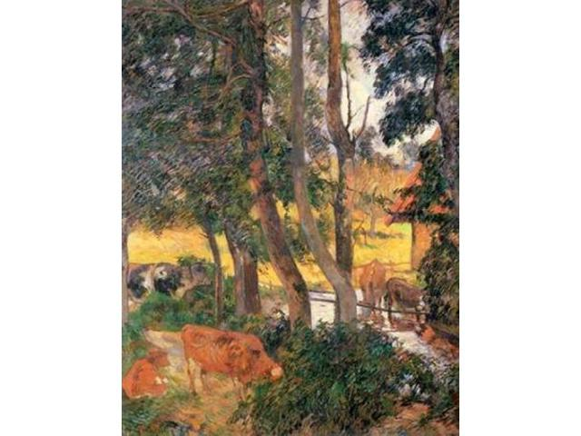 Edge Of The Pond Poster Print by Paul Gauguin (18 x 24)