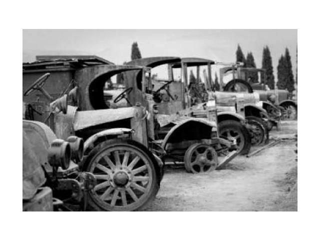 Antique Car Graveyard I Poster Print by Erin Berzel (10 x 14)