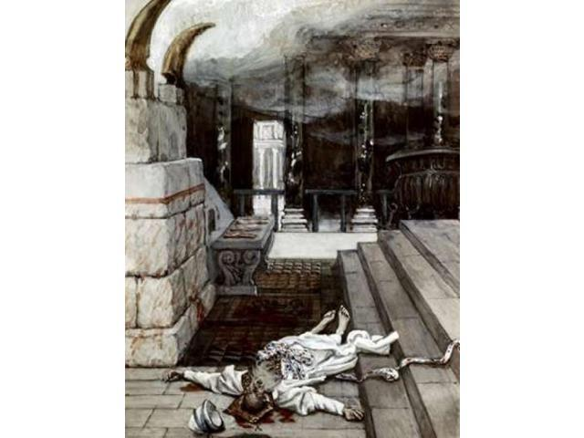 Zacharias Killed Between The Temple and The Altar Poster Print by James Jacques Tissot (18 x 24)