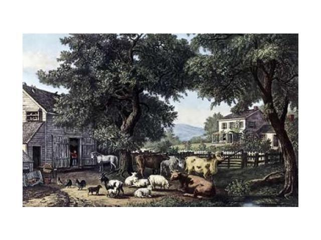Old Homestead Poster Print by  Currier and Ives (24 x 36)