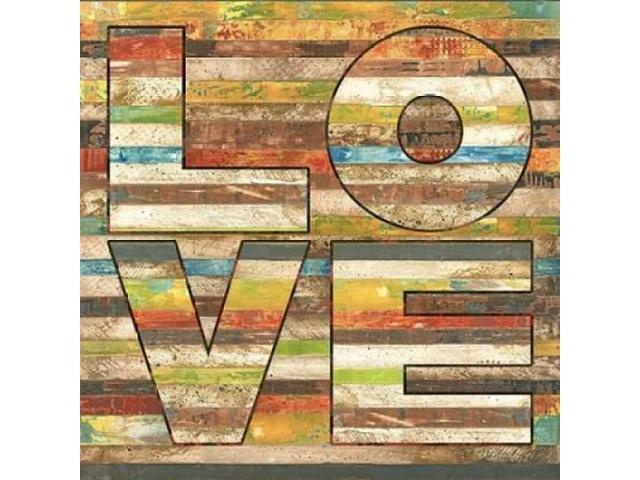 Striped Love Poster Print by Melissa Pluch (24 x 24)