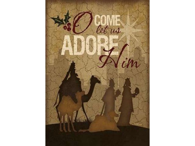 O Come Let Us Adore Him Wisemen Poster Print by Jennifer Pugh (20 x 28)