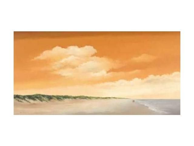 Along the Sea II Poster Print by Hans Paus (10 x 20)