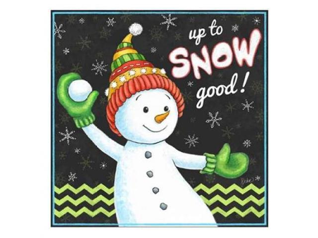 Up to Snow Good! Poster Print by Jacqueline Decker (24 x 24)