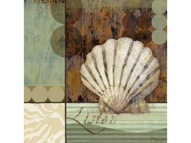 Contemporary Shell I Poster Print by Paul Brent (24 x 24)