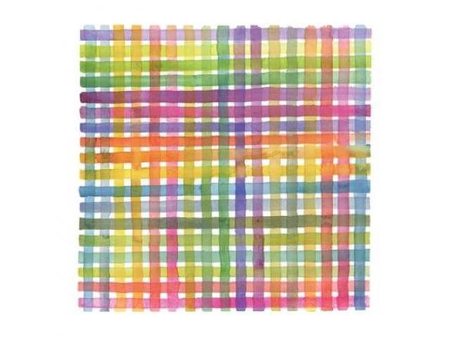 Plaid I Poster Print by Theresa Troise Heidel (24 x 24)