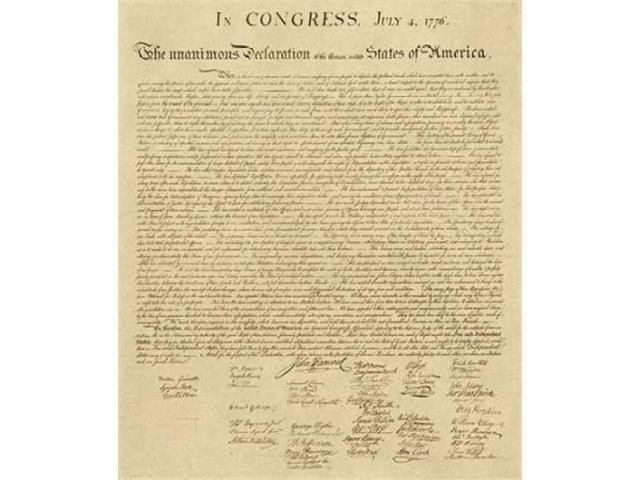 U.S. Declaration of Independence - Decorative Sepia Poster Print by  US Government (24 x 24)