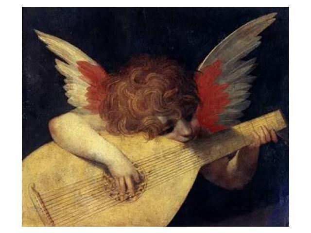 Angel with Lute Poster Print by Rosso Fiorentino (20 x 24)