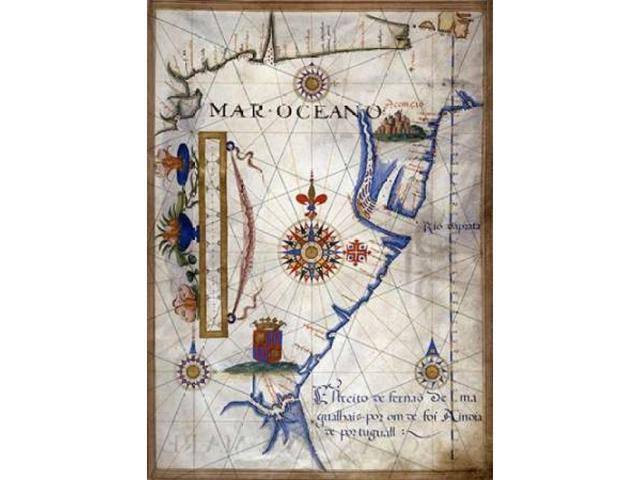 Mar Oceano - Portolan Atlas Illumination Poster Print by  Sebastiano Lopes  (10 x 14)
