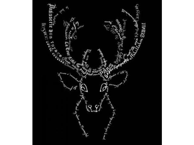 French Stag Black Poster Print by Marion De Lauzun (12 x 12)