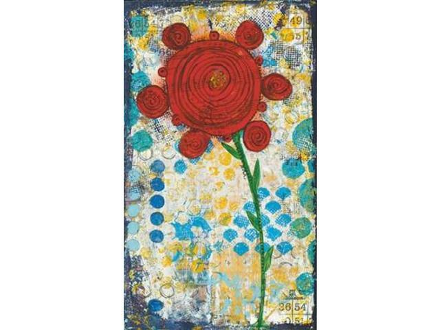 Abstract Floral Poster Print by Cassandra Cushman (24 x 36)