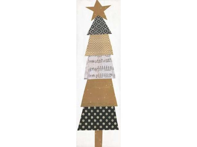 Whimsical Christmas Tree Poster Print by Alli Rogosich (12 x 36)