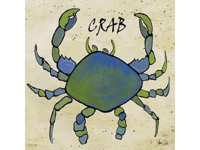 Crab II Poster Print by Shanni Welsh (12 x 12)
