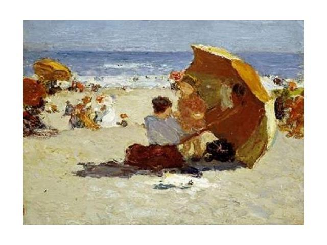 Late Afternoon Coney Island Poster Print by  Edward Henry Potthast  (9 x 12)