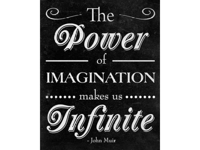 Power of Imagination Poster Print by  SD Graphics Studio (8 x 10)