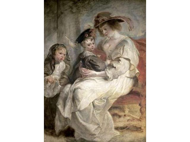 Helena Fourment and Her Children Claire-Jeanne and Francois Poster Print by  Peter Paul Rubens  (10 x 14)