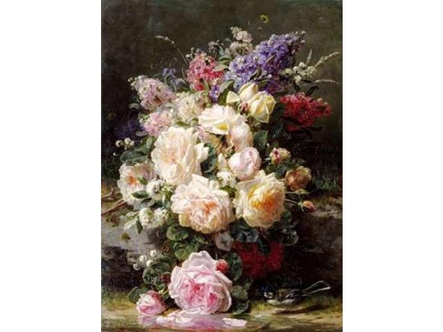 Still Life With Roses Poster Print by  Jean-Baptiste Robie  (9 x 12)