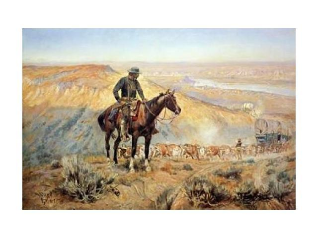The Wagon Boss Poster Print by Charles M. Russell (24 x 36)