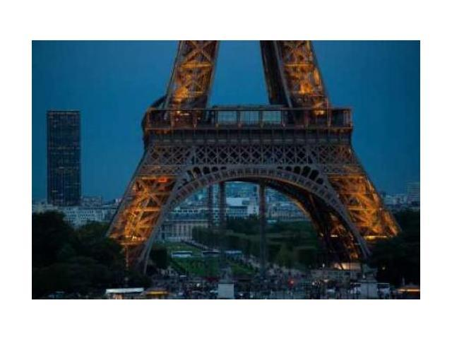 Eiffel Tower at Night V Poster Print by Erin Berzel (12 x 18)