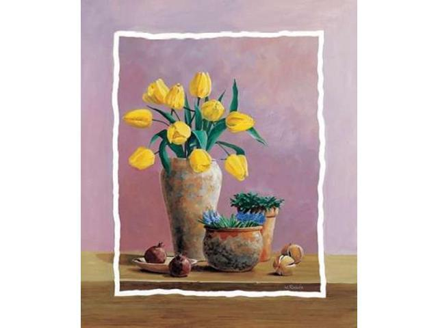 Yellow tulips Poster Print by Wouter Roelofs (12 x 12)