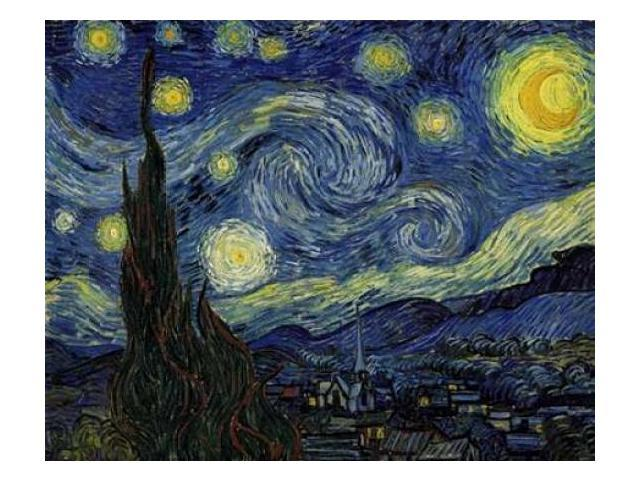 Starry Night Poster Print by  Vincent Van Gogh  (8 x 10)