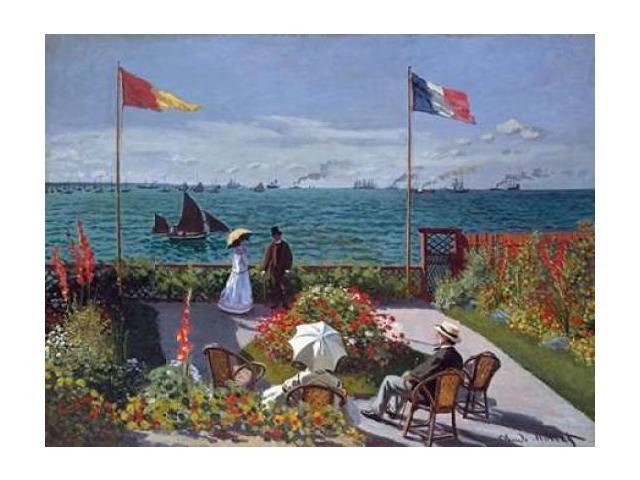 Terrasse a Sainte-Adresse Poster Print by Claude Monet (22 x 28)