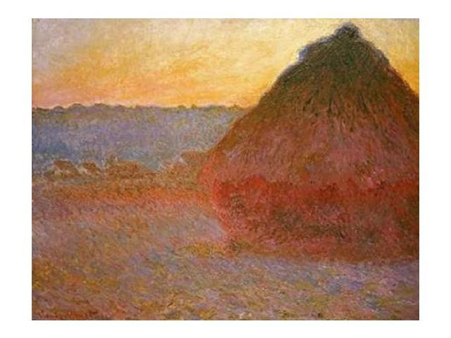 Haystacks Pink and Blue Impressions Poster Print by  Claude Monet  (11 x 14)