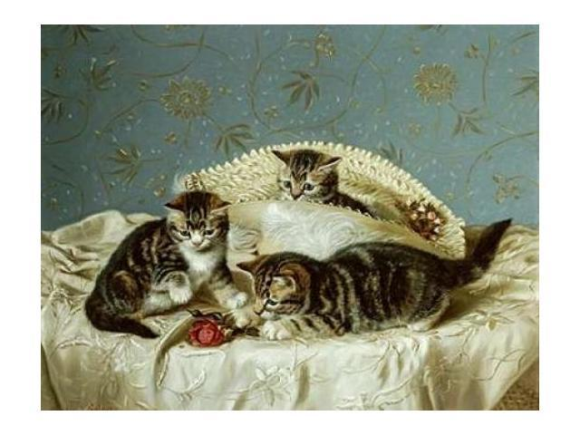 Kittens Up To Mischief Poster Print by  Horatio Henry Couldery  (11 x 14)