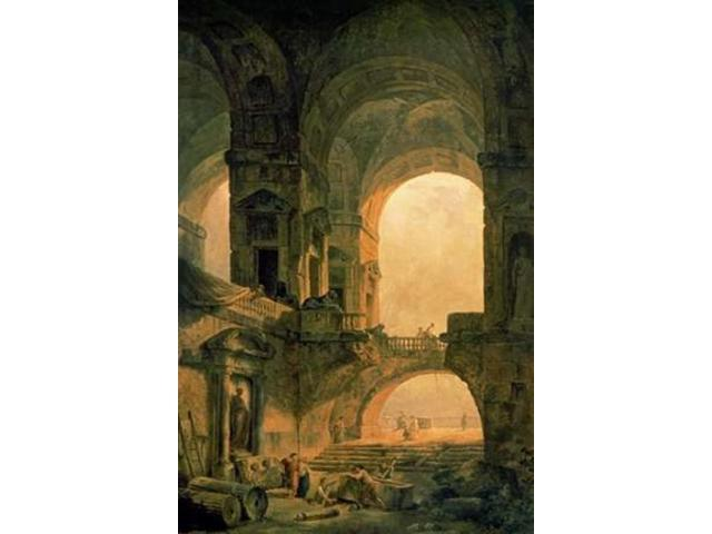Vaulted Arches Ruin Poster Print by Hubert Robert (24 x 36)