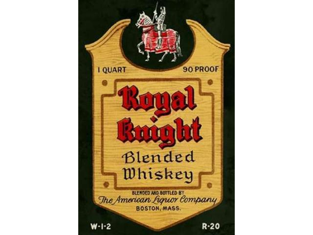 Royal Knight Blended Whiskey Poster Print by Vintage Booze Labels  (12 x 18)