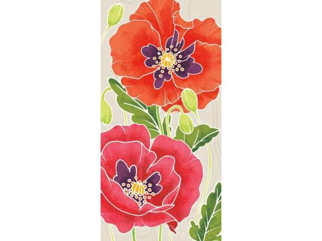 Sunshine Poppies Panel I Poster Print by Elyse DeNeige (24 x 48)
