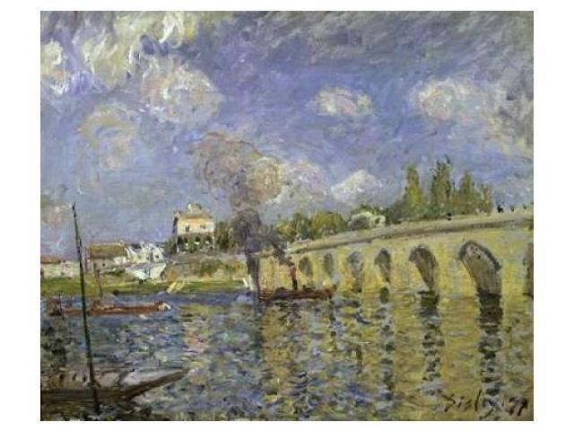 The Bridge Poster Print by Alfred Sisley (20 x 24)