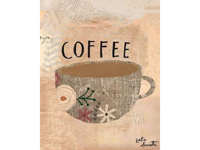Coffee Poster Print by Katie Doucette (24 x 30)