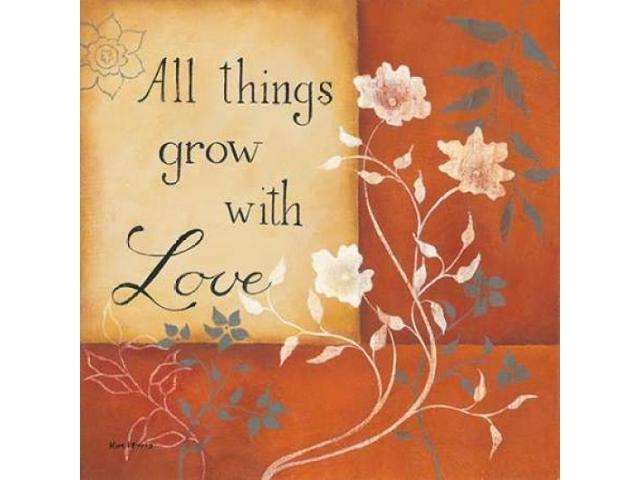 Grow With Love Poster Print by Kim Lewis (24 x 24)