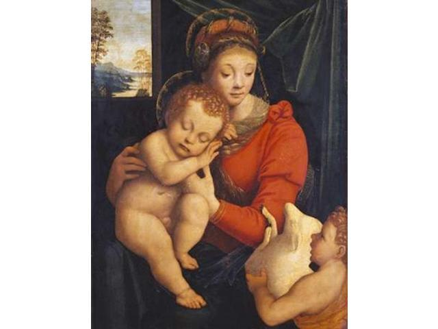 The Madonna With The Sleeping Child and The Infant Baptist Poster Print by  Bernardino Lanino  (11 x 14)