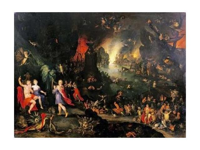 Orpheus Playing To Pluto and Persephone In The Underworld Poster Print by Jan Brueghel the Younger  (9 x 12)