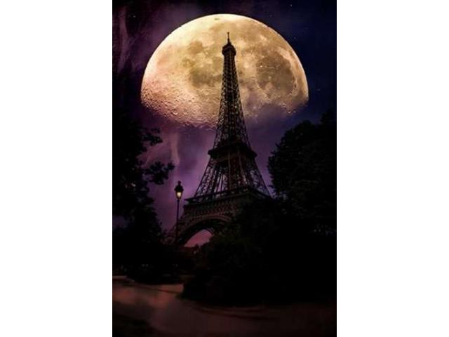 Moonlight in Paris Poster Print by John Rivera (24 x 36)