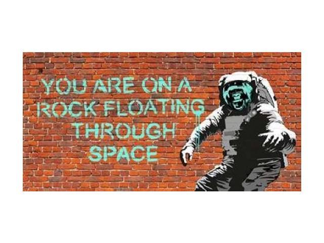 Floating Through Space Poster Print by  Masterfunk collective (10 x 20)