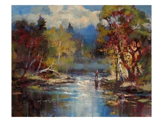 Mountain Stream Poster Print by Brent Heighton (10 x 12)