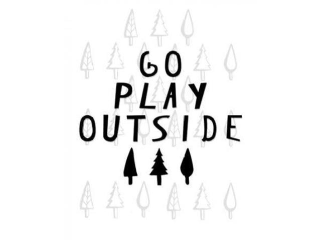 Go Play Outside Poster Print by Amy Cummings (8 x 10)