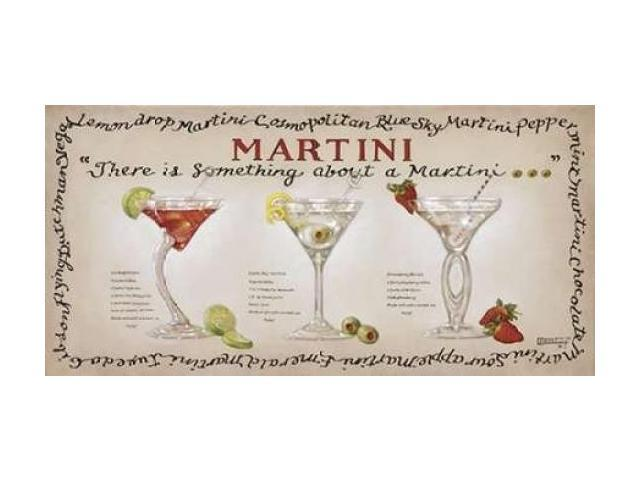 Martini Collection Poster Print by  Janet Kruskamp  (10 x 20)