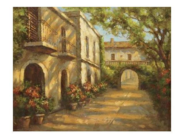 Arched Passageway Poster Print by Bolo  (11 x 14)