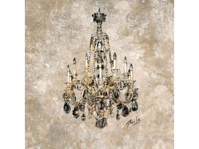 Champagne Chandelier Poster Print by Marta G. Wiley (24 x 24)