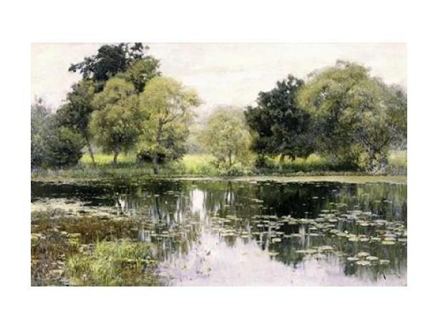 Water Lilies on a Pond Poster Print by Isaak Levitan (24 x 36)