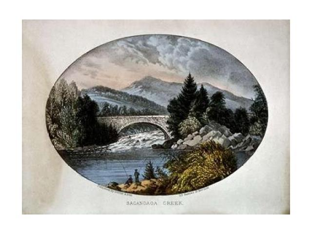 Sacandaga Creek Poster Print by Currier and Ives  (9 x 12)