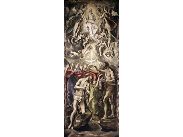Baptism of Christ Poster Print by  El Greco (24 x 48)