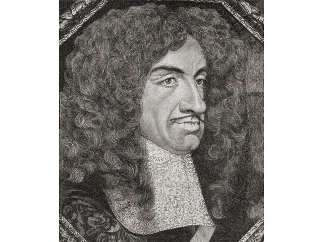 Charles Ii 1630 To 1685 King Of England Scotland And Ireland From The Book Short History Of The English People By JR Green Published London 1893 Poster Print (13 x 15)