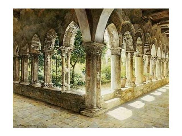 Cefalu Cloisters Sicily Poster Print by Josef Theodor Hansen (22 x 28)